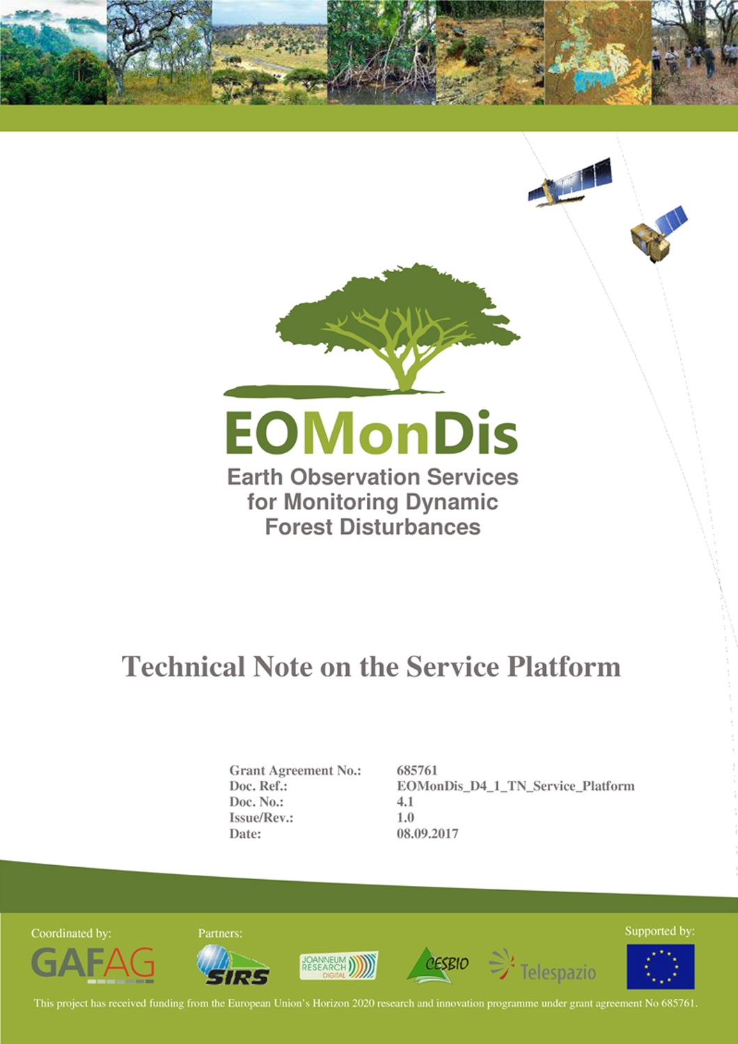 Technical Note on the Service Platform