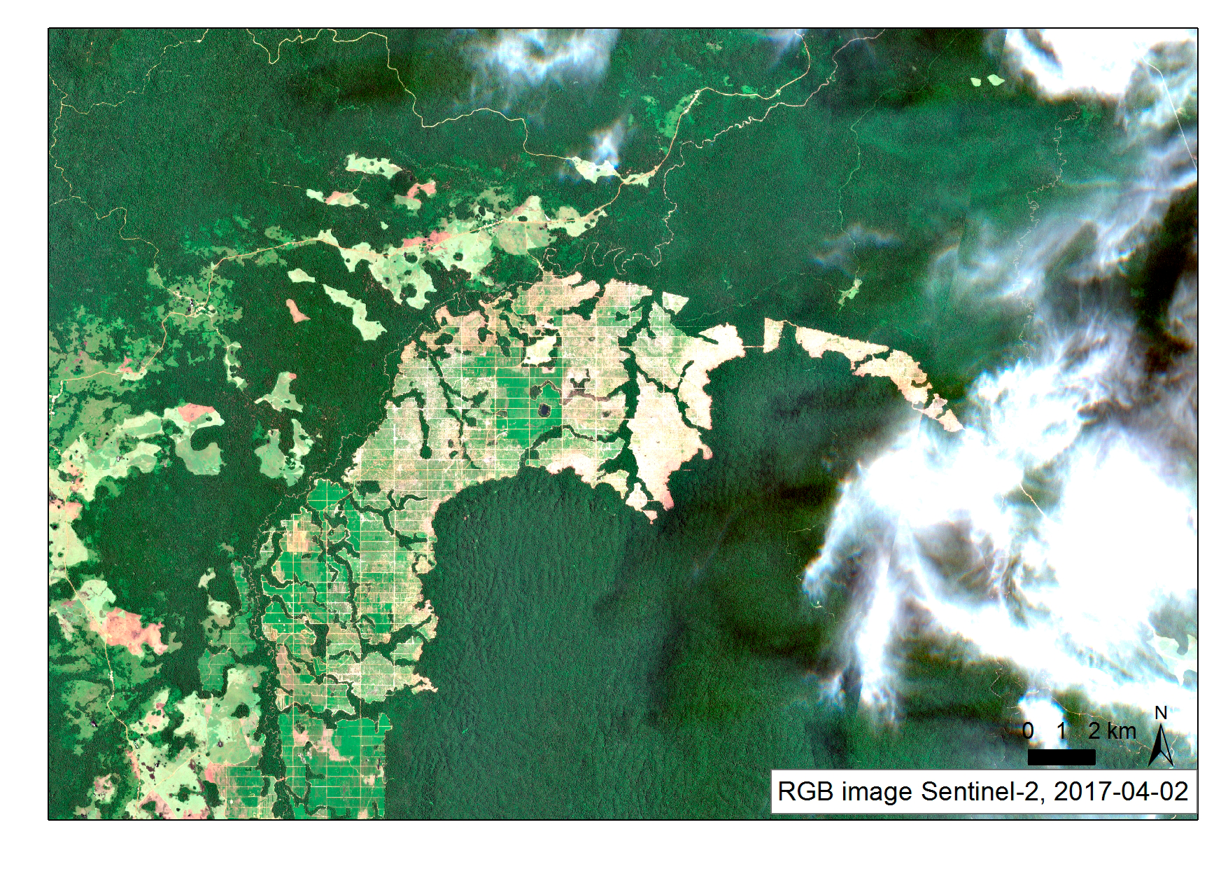 Representation of Deforestation with Sentinel-1 data Gabon 2015-2017